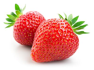 Menu Fresh strawberries